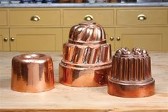 """Three Victorian copper jelly moulds, English"" by Unknown (Lot Number 341) 