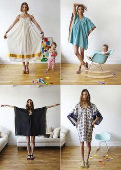 I think i might try to make one of these nifty little caftan dresses.