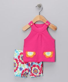 Take a look at this Pink Daisy Pocket Tank & Bloomers - Infant by Sweet & Soft on #zulily today!