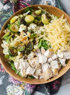 Roasted Winter Vegetable Chopped Chicken Salad