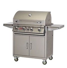 Bull Outdoor Products BBQ 44000 Angus 75000 BTU Grill with Cart Liquid Propane