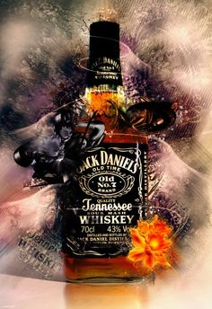 cool This Jack Daniel's bottle looks super cool. Great job to whoever created it! Jack Daniels Tattoo, Jack Daniels Logo, Jack Daniels Bottle, Whiskey Girl, Whiskey Sour, Cigars And Whiskey, Whiskey Bottle, Bebidas Jack Daniels, Jack Daniels Cocktails