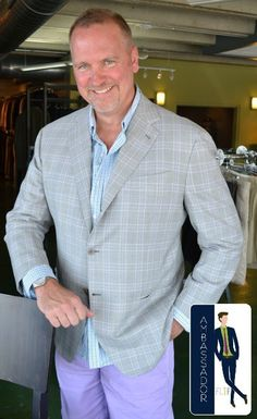 Billy came in & found some great items, among them was this fantastic Borrelli sport coat! Even better is that the jacket fit him perfectly & went great with his outfit!!