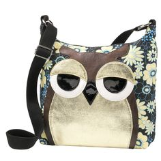 Floral Owl Bag - Gifts, Clothing, Jewelry, Home Decor and Home Furnishings as Featured in Popular Catalogs Owl Purse, Owl Quilts, Owl Bags, Felt Owls, Owl Patterns, Cute Owl, Purse Wallet, Fashion Bags, Purses And Bags