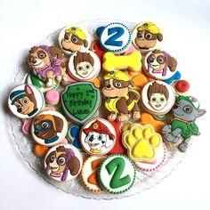 Cookies by Holli G. - Lucas' Paw Patrol 2nd Birthday cookies