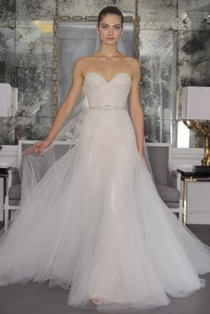 #pink wedding dress from Romana Keveza. See more pretty → Follow @DMeventsNY on Instagram to see so much pretty