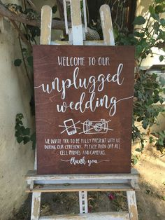 17 Ways to Politely tell your Wedding Guests you have a Photographer etsy unplugged wedding sign Country Wedding Invitations, Rustic Wedding Signs, Wedding Signage, Wedding Catering, Wedding Ceremony Signs, Wedding Decor, Dream Wedding, Wedding Day, Wedding Stuff