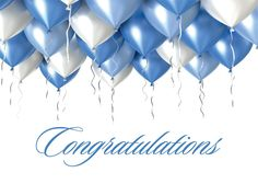 Frosty Balloons - Congratulations Cards from CardsDirect
