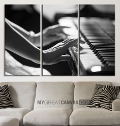Canvas ART Piano and Women Canvas Print + Music Theme Art Canvas Print + Ready to Hang + Great Gift + Holland Landscape Canvas
