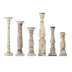This stunning set of Recycled Wood Candle Sticks have been lovingly hand carved in beautiful pale toned recycled wood. Designed by Bloomingville the set makes a stunning gift or an eye catching display. Modern Candle Holders, Wood Candle Holders, Chandeliers, Bamboo Ladders, Bamboo Planter, Starburst Mirror, Concrete Pots, Water Hyacinth, Vintage Candles