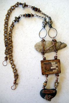 What an AWESOME necklace.If you could make an arrowhead, you could make small notches to make it easier to secure..This would be a STUNNING piece, especially  if you share a Native American Heritage.