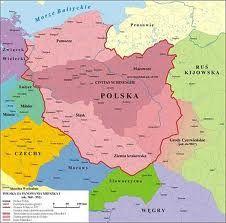 Map of Poland (Polish: Polska) in under Mieszko I Luxembourg, Poland History, Alternative Names, Holy Roman Empire, Old Names, Poland Travel, Alternate History, Central Europe, Historical Maps