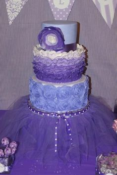 Purple tutu cake! For all the fun ballerinas out there!
