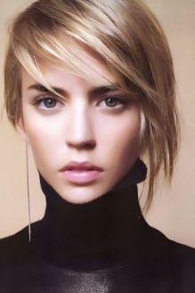 Short asymmetrical bobs hairstyle haircut 16