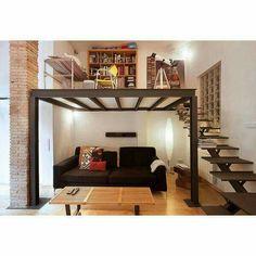 a loft Loft Room, Bedroom Loft, Bedroom Decor, Loft House, House Rooms, Small Rooms, Small Spaces, Loft Bed Plans, Tiny Loft