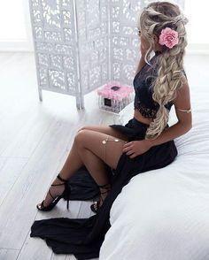 Sexy Black Prom Dress, Sexy Two Piece Prom