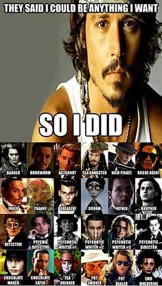 johny Depp haha I love it :D