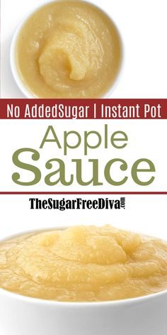 Sugar Free Instant Pot Applesauce, a recipe for making apple sauce in a one pot, pressure cooker, instant pot , without adding sugar Sugar Free Apple Butter Recipe, Sugar Free Applesauce Recipe, Baby Applesauce, How To Make Applesauce, Homemade Applesauce, Applesauce Recipes, Jam Recipes, Canning Recipes, Apple Recipes