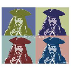 'Captain Jack Sparrow' T-Shirt by PetraSage Captain Jack Sparrow, Classic T Shirts, Throw Pillows, Art, Art Background, Toss Pillows, Cushions, Kunst, Decorative Pillows