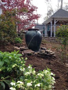 Outdoor Garden Fountain. For more info including videos & pricing visit us at www.potteryfountain.com WE SHIP!