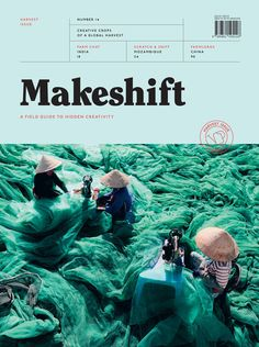 "Makeshift Harvest Issue ""IdN in Editorial / Layout / Covers Magazine Cover Layout, Magazine Layout Design, Magazine Layouts, Design Editorial, Editorial Layout, Book Cover Design, Book Design, Mises En Page Design Graphique, Branding And Packaging"