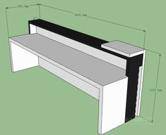 Business Cash Front Desk For Cloth Store Company - Zimmereinrichtung Cash Counter Design, Reception Counter Design, Office Reception Design, Modern Office Design, Office Interior Design, Office Interiors, Reception Desks, Design Offices, Lobby Reception