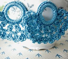 Crochet Rings, Wire Crochet, Thread Crochet, Shell Earrings, Etsy Earrings, Crochet Earrings Pattern, Tatting Jewelry, Crochet Square Patterns, Cotton Crochet