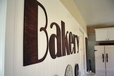 "Massive vintage ""Bakery"" sign."