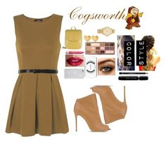 """""""Cogsworth"""" by theatergrl ❤ liked on Polyvore featuring WearAll, Casadei, Radley, Too Faced Cosmetics, Givenchy, Marc Jacobs, MAC Cosmetics, TheBalm, Revlon and Felony Case"""