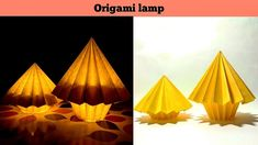 This is origami umbrella lantern. You can use it for home decor or for Diwali festival or for new year celebra. Origami Umbrella, Origami Lantern, Origami Lamp, Foam Crafts, Diy And Crafts, Origami Templates, Box Templates, Origami Furniture, Diwali Festival