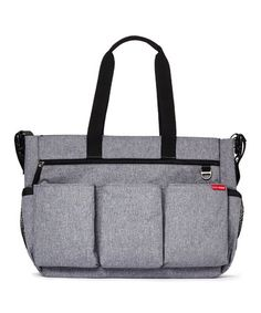 Love this Heather Gray Signature Duo Diaper Bag by Skip Hop on #zulily! #zulilyfinds