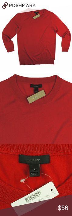 "New JCREW Red Merino Tippi Sweater This new red merino Tippi sweater from JCREW features a crew neckline and 3/4 length sleeves. Made of 100% merino wool. Measures: bust: 36"", total length: 24.5"", sleeves: 21"" J. Crew Sweaters Crew & Scoop Necks"