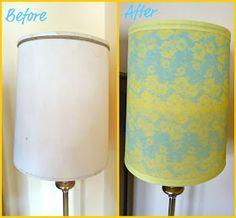 McKell's Closet: DIY Lace Lamp Shade