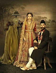 "High Fashion Pakistan — Ali Xeeshan's ""The Royal Family Portraits"" Pakistani Bridal Wear, Pakistani Outfits, Indian Bridal, Traditional Fashion, Traditional Outfits, Royal Family Portrait, Family Portraits, Lehenga, Anarkali"
