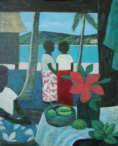 Fiji - possibly Ray Crook / Penny Casey Vibrant Colors, Colours, Australian Artists, Flora And Fauna, Island Life, Fiji, Impressionist, Concept, Oil Paintings