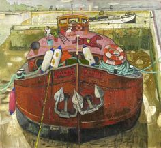 at Mascalls Gallery 'What the River Knew' - John Martin Gallery John Martin, Water Crafts, Scotch, Mysterious, Morocco, Boats, Mystery, Paintings, River