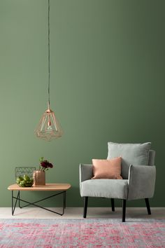 Sconces Living Room, Living Room Decor, Green Wall Color, Light Green Walls, Indian Room, House Color Palettes, Accent Wall Colors, Lounge Chair Design, Living Room Green