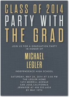 Exquisite Acclaim - #Graduation Invitations - Magnolia Press in Slate Gray