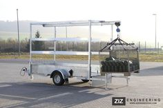 gantry crane trailer, perfect idea for loading heavy logs