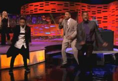 Will Smith, Jaden Smith, and Carlton doing the Carlton on the Graham Norton Show