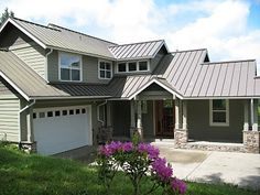 Metal roof on craftman style home