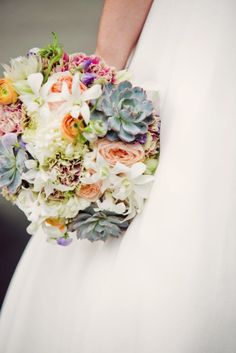 Obsessed with this Succulent Bouquet! So pretty!!!