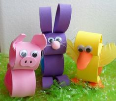 Happier Than A Pig In Mud: Foam Easter Egg Holders 2013- Pig Alert!