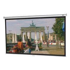 Diagonal Da-Lite 68 x 50 Manual movie Projector Screen Gently Used