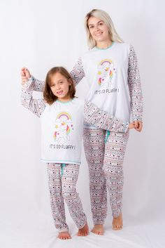 Pijama Unicórnio Inverno MÃE E FILHA