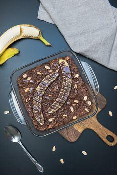 Gebackenes Snickers Oatmeal | Eat-Vegan