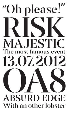 tdc2 typography winner | Jury is TDC² JURY Roger Black Matthew Carter Paul Shaw Erik Spiekermann I love Risk