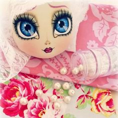 New custom doll #wip ♡ #livvysnow #handmade #clothdoll #artdoll #shabbychic…
