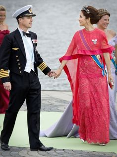 Crown Prince Frederik and Crown Princess Mary at the Swedish royal wedding of Princess Madeline and Chris O'Neill 8 June 2013