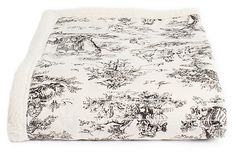 Large Dog Toile Blanket on OneKingsLane.com